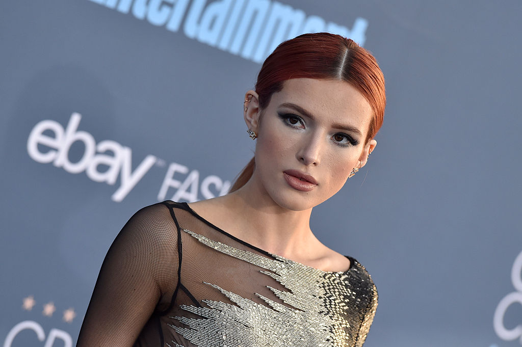 Bella Thorne looked like the an '80s prom queen in a pale purple gown