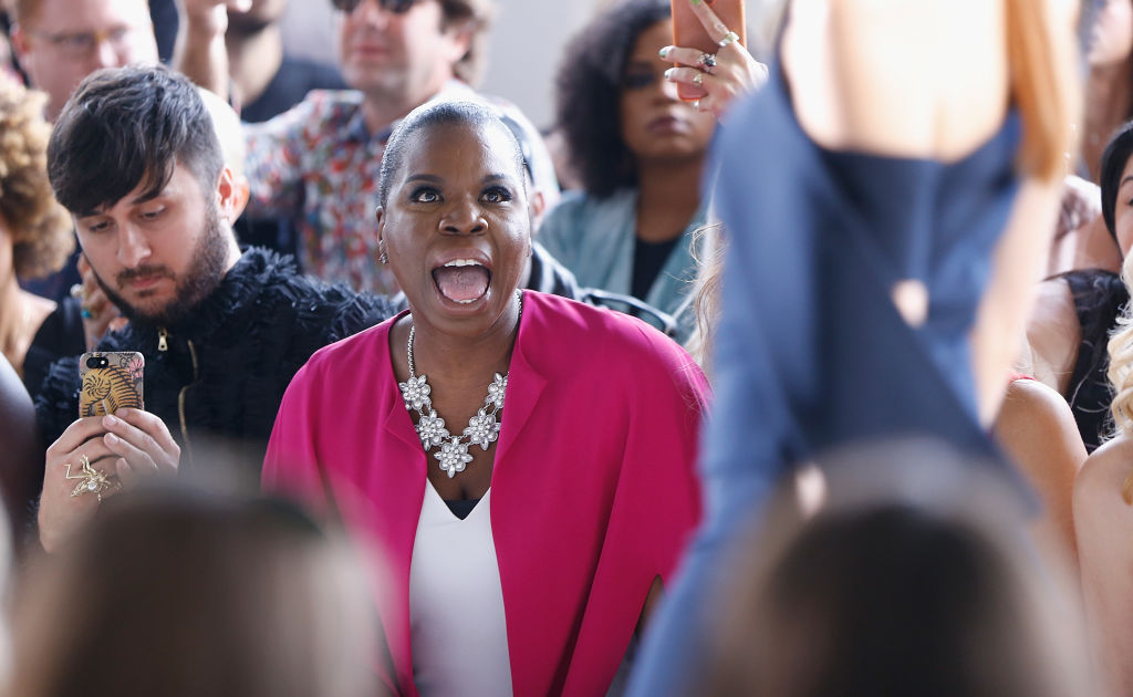 Leslie Jones freaked out in the front row at NYFW, and we want to see her at every fashion show