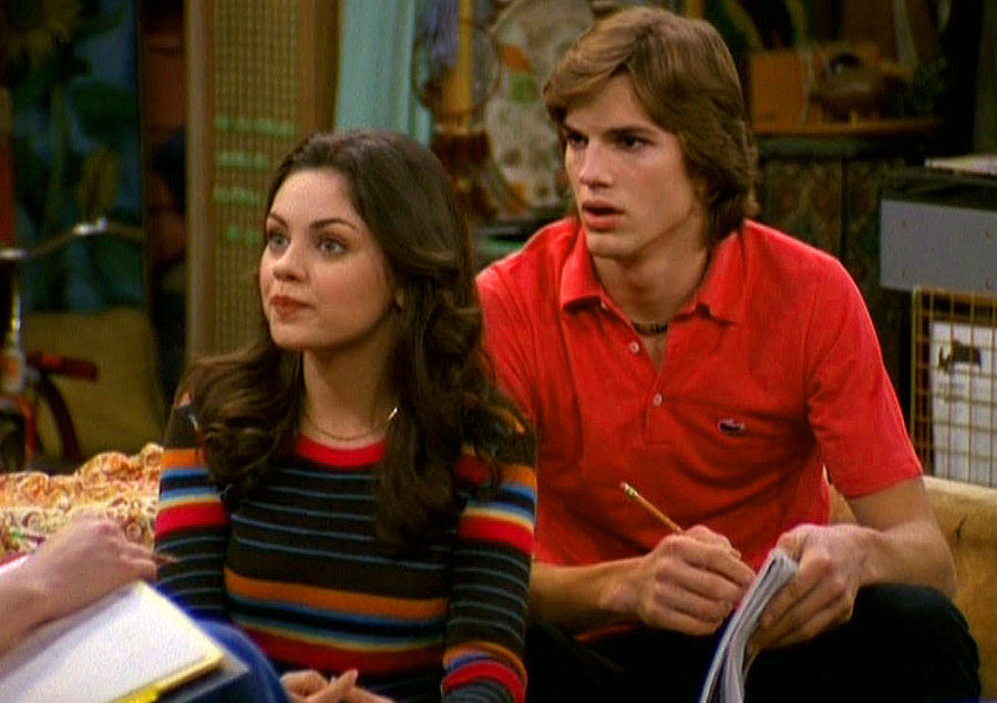 Ashton Kutcher and Mila Kunis's baby just wore a Kelso and Jackie shirt