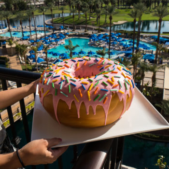 You can get a giant, 10-pound donut delivered straight to your room at this hotel, because YOLO