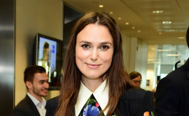 Keira Knightley dressed like Wednesday Addams — if Wednesday had a thing for florals