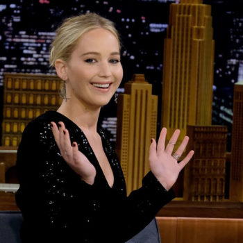 Jennifer Lawrence channeled her inner magician in this sequined suit