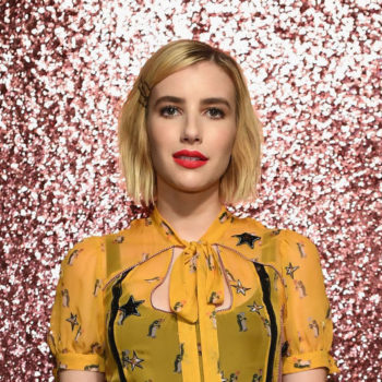 Emma Roberts's pumpkin spice latte dress is the perfect color for fall