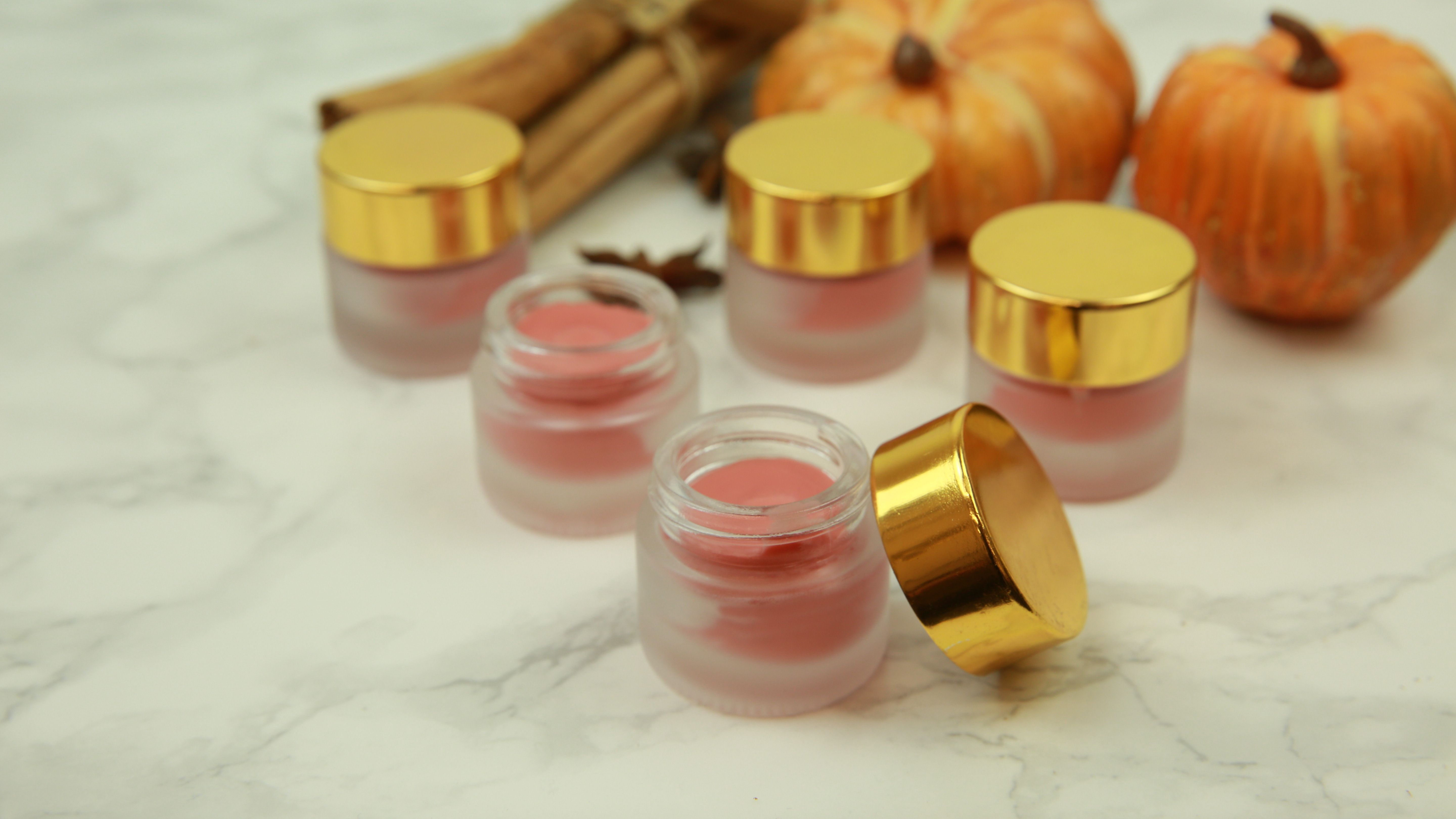 This DIY pumpkin spice lip balm is our new fall beauty fave