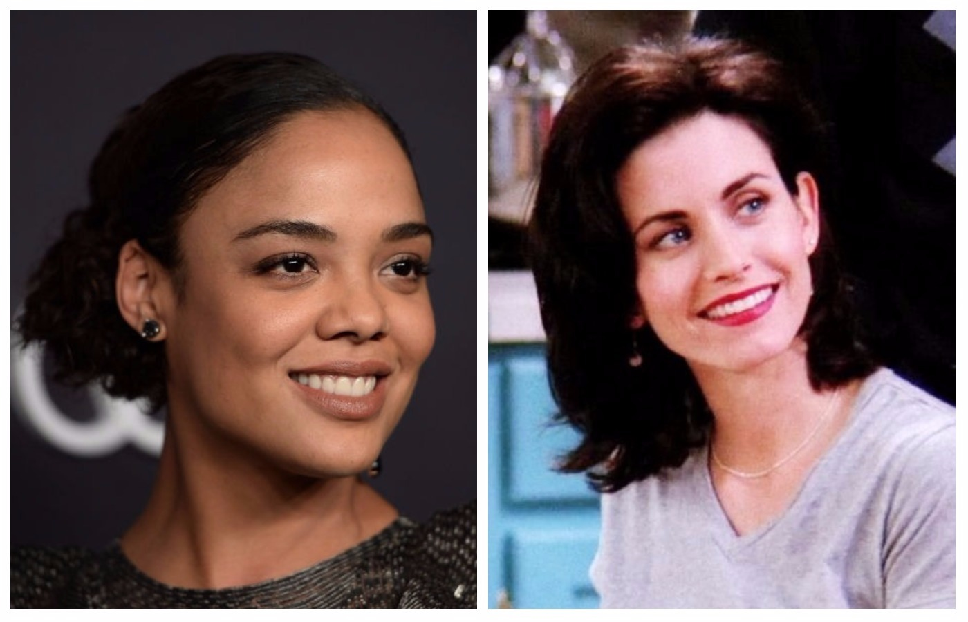"""Tessa Thompson is dying to know what Courteney Cox thought of her take on Monica Geller in """"Moonlight"""""""