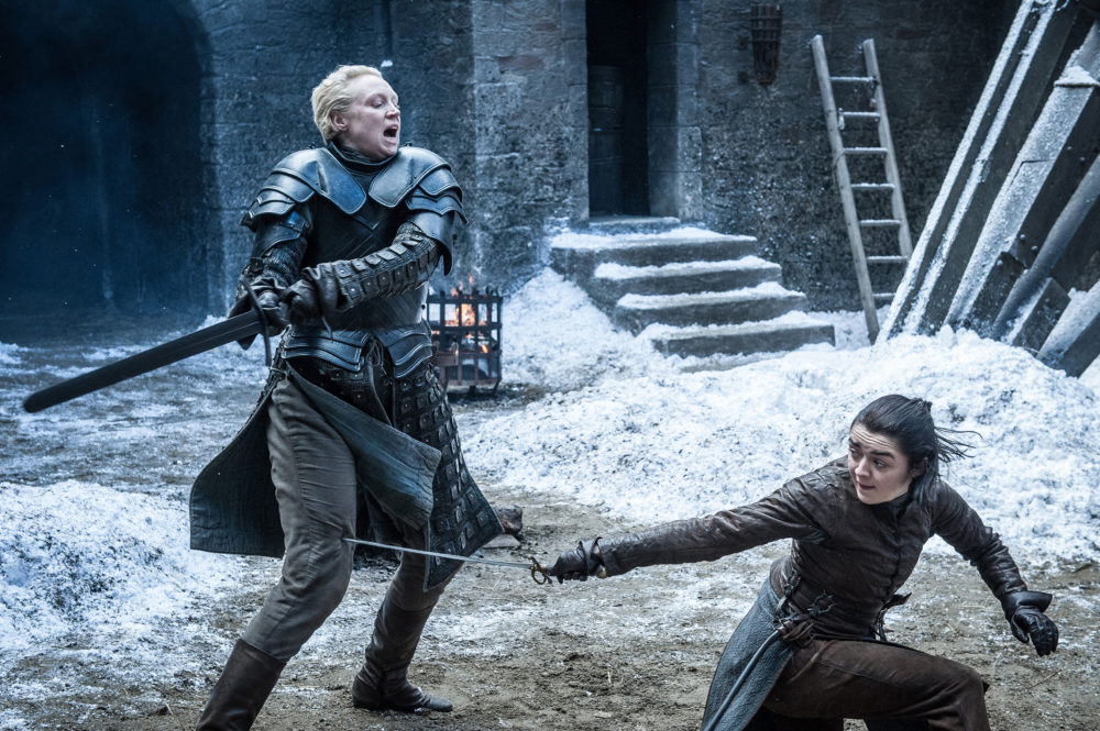 """Here's your badass break for the day: Watch Maisie Williams and Gwendoline Christie train for their """"Game of Thrones"""" fight"""