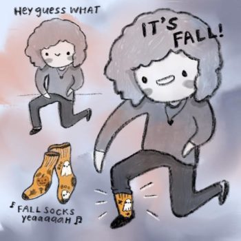 FALL IS HERE! Celebrate with your sneaky socks (I know you have some)