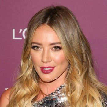 Hilary Duff is making us want to wear sequins and leather at our next formal event