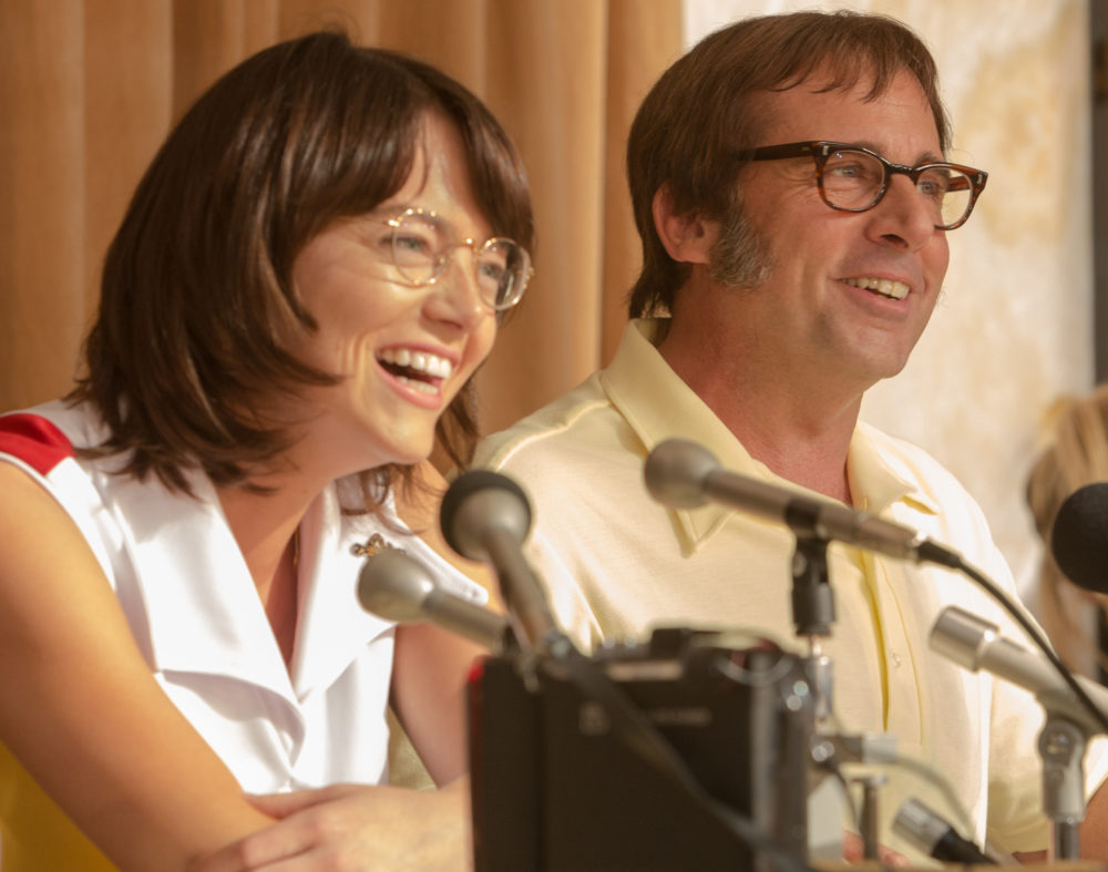 """Emma Stone was so dedicated to her role as Billie Jean King in """"Battle of the Sexes"""" that she did push-ups in between takes"""