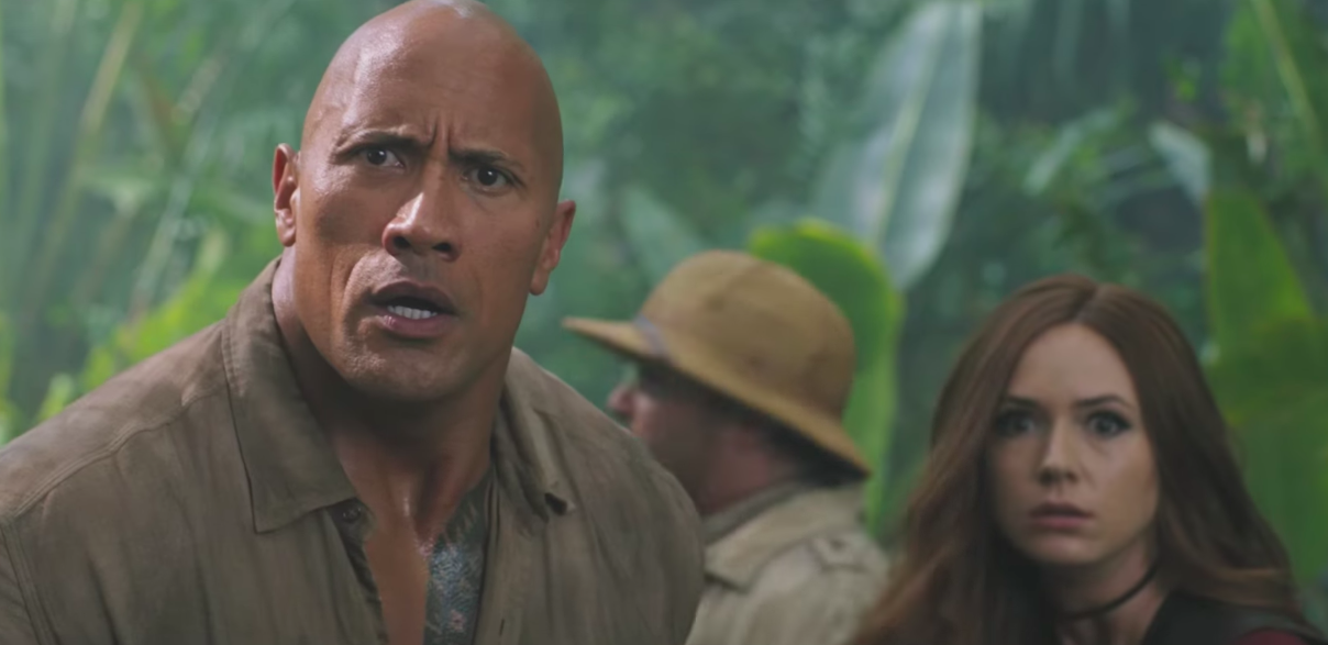 """Watch The Rock try *not* to cry during the latest trailer for """"Jumanji"""""""