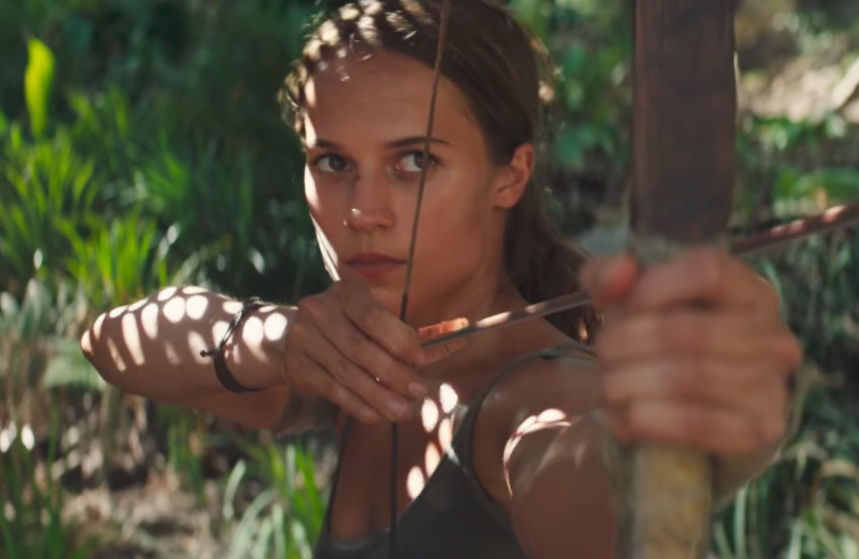 "Watch Alicia Vikander escape death *so* many times in the first trailer for ""Tomb Raider"""