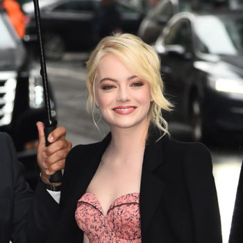 Emma Stone's bustier dress is the perfect vintage throwback look