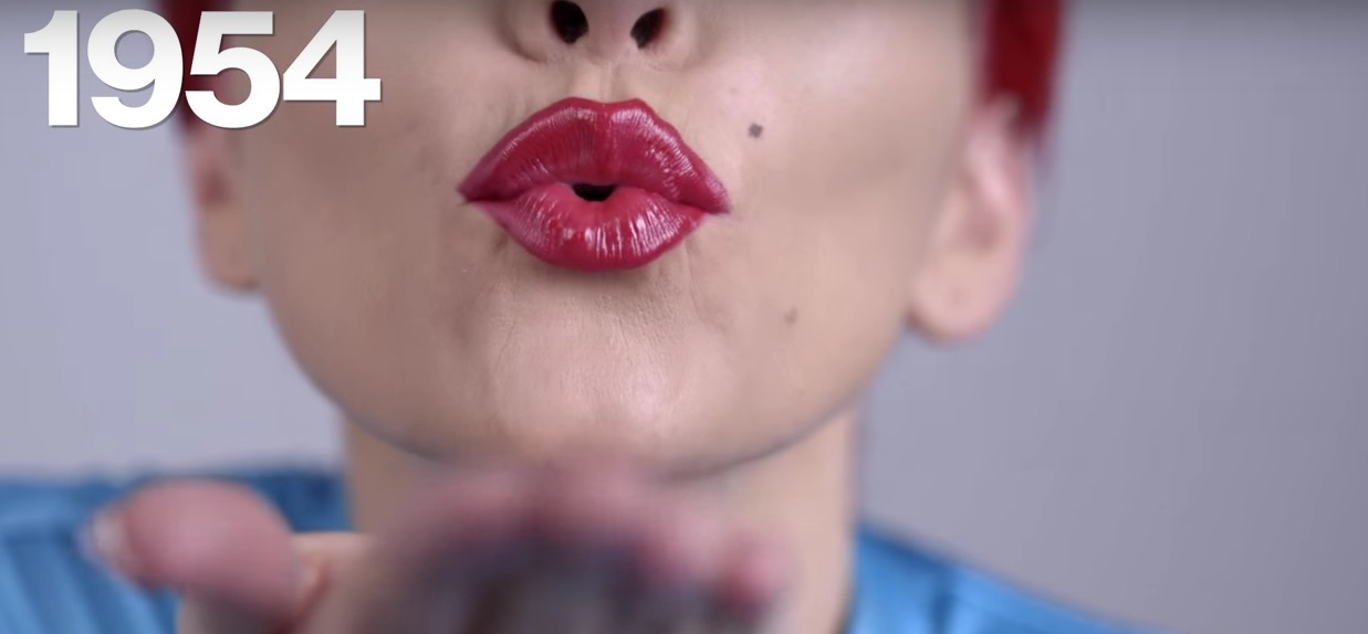"""This """"100 years of lipstick"""" video shows how lipstick trends are ACTUALLY made"""