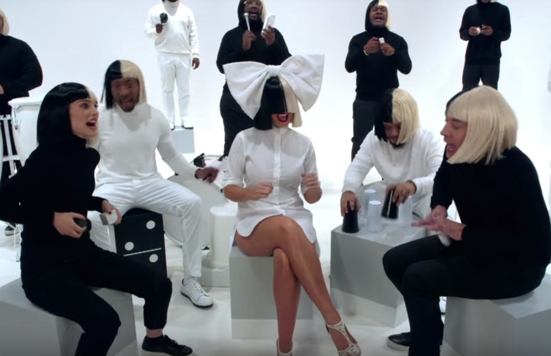 """Jimmy Fallon, Natalie Portman, Sia, and The Roots nailed their performance of """"Iko Iko"""""""