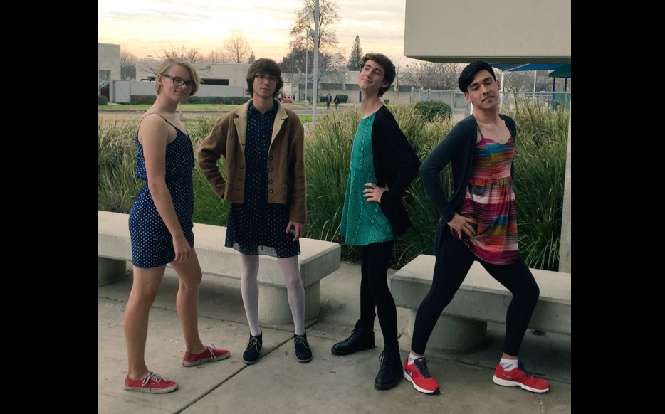 The boys at this high school wore dresses to support the female students at their school and protest the dress code