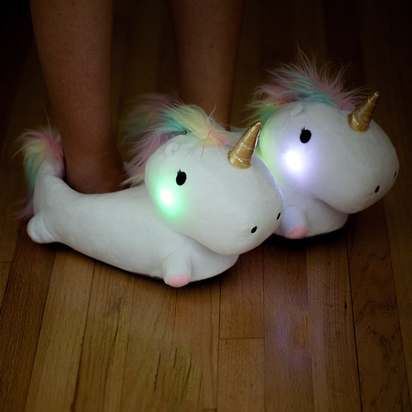4488c64aecf2 These light-up unicorn slippers make bedtime magical - HelloGiggles