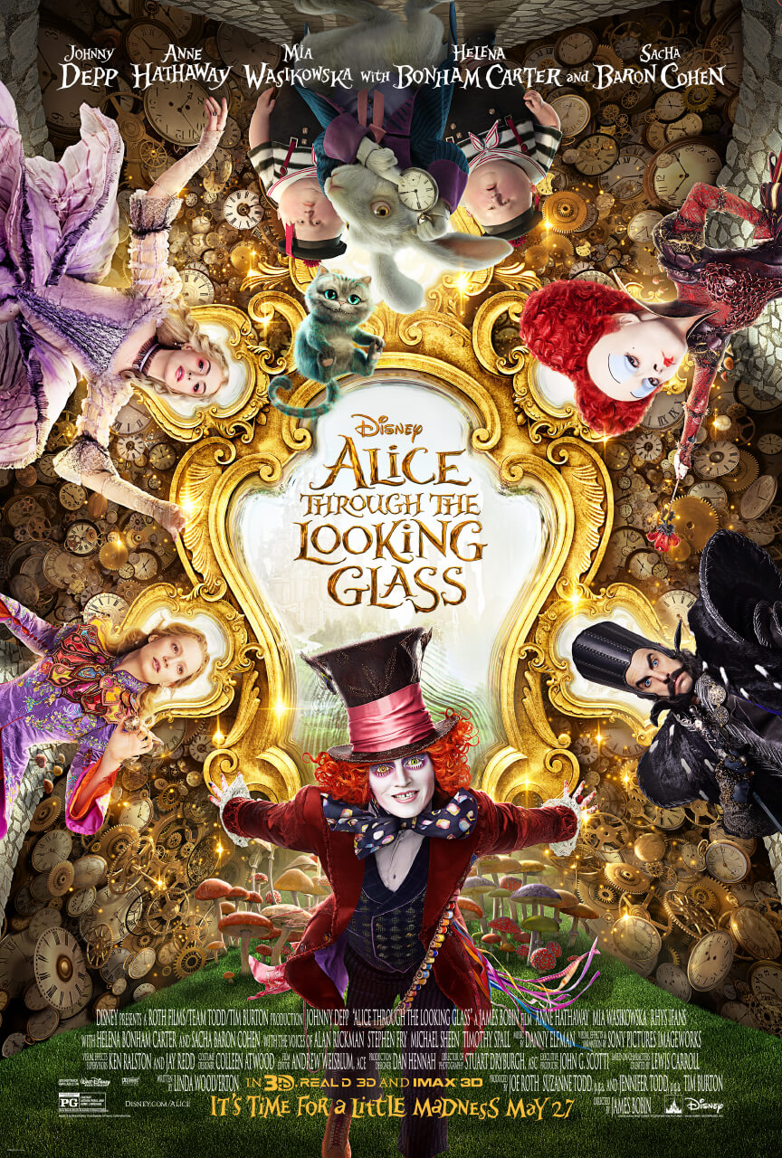Image result for alice through the looking glass movie poster