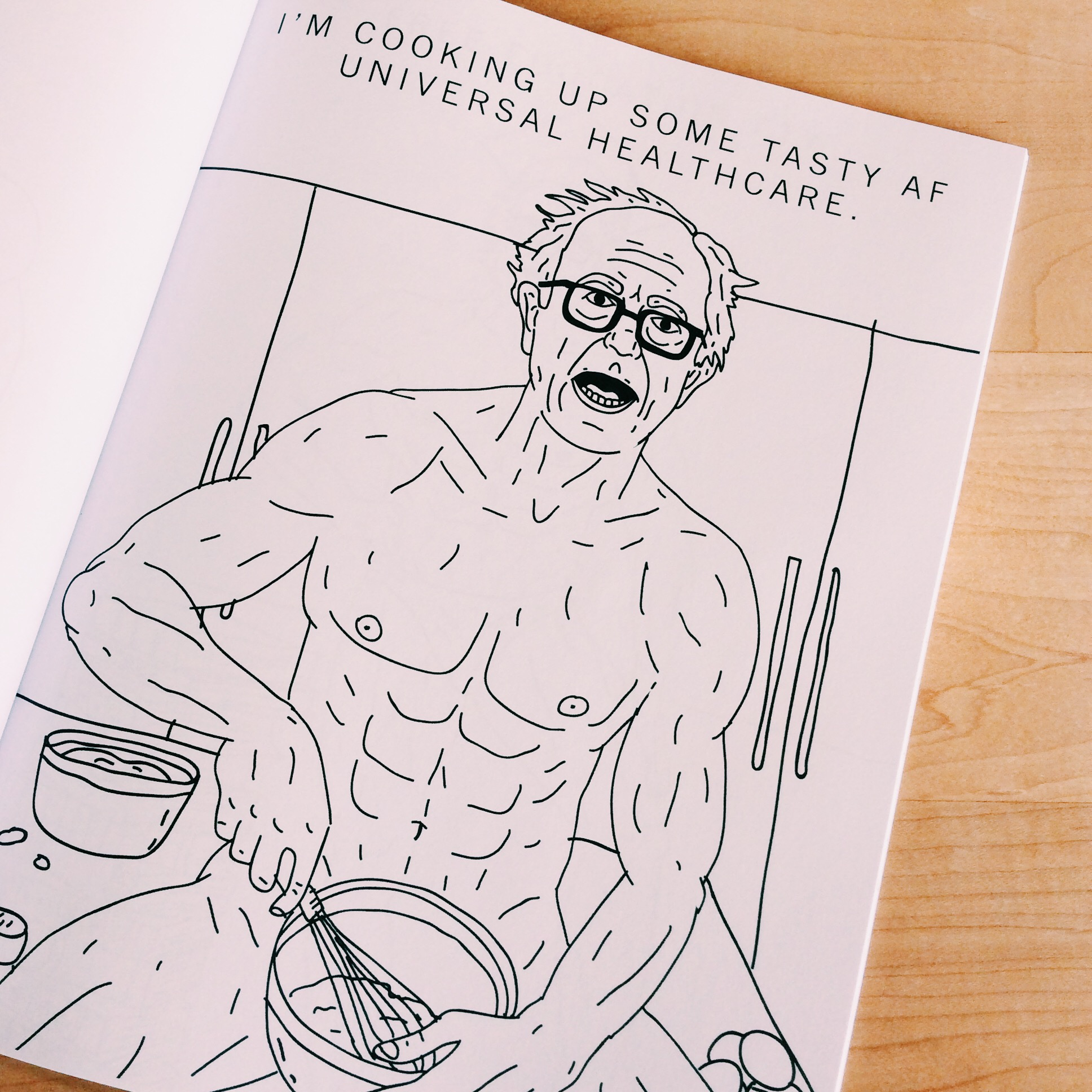 Coloring book kitchen - There Is Now A Buff Bernie Sanders Coloring Book Just Fyi