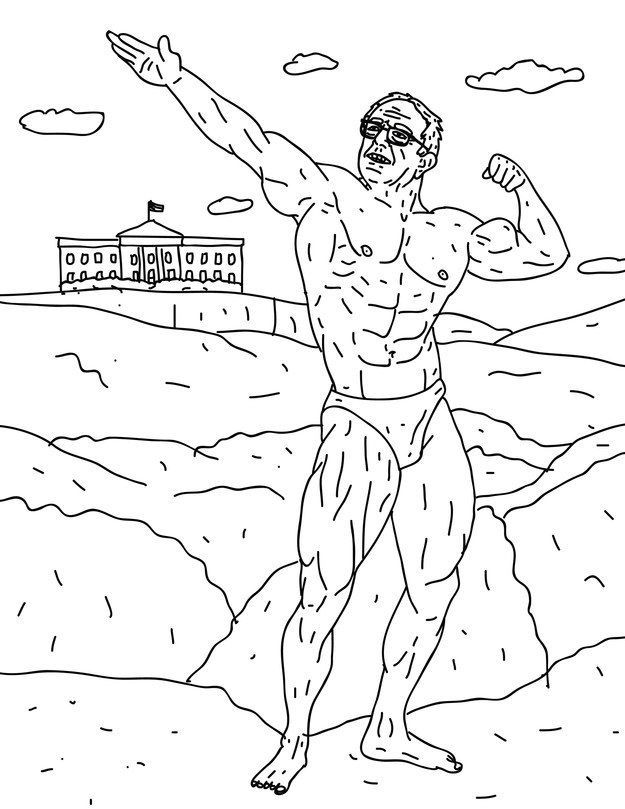 There Is Now A Buff Bernie Sanders Coloring Book Just FYI