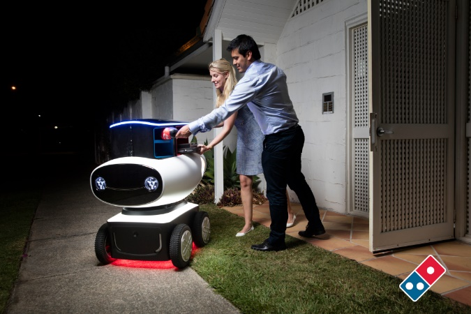 At last, robot pizza delivery is here!