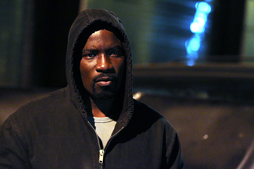 NEW YORK, NY - DECEMBER 02:  Mike Colter filming  Marvel / Netflix's  Luke Cage  on December 2, 2015 in New York City.  (Photo by Steve Sands/GC Images)