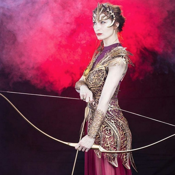 Felicia Day models 3D-printed armor so beautifully it deserves a fashion show