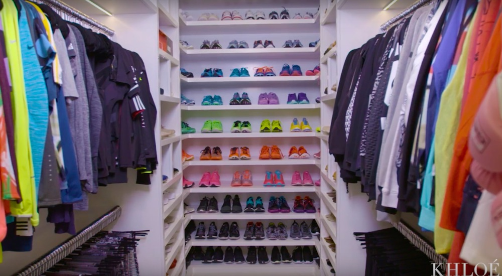 You Need To See Khloe Kardashians Insane Fitness Closet
