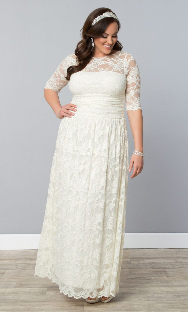 12 gorgeous plus size wedding dresses all under 500 for Wedding dress plus size