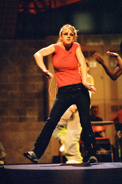 Britney Spears during 1999 MTV Video Music Award Rehearsals at Lincoln Center in New York City, New York, United States. (Photo by Jeff Kravitz/FilmMagic, Inc)