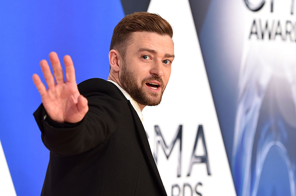 NASHVILLE, TN - NOVEMBER 04:  Musician Justin Timberlake attends the 49th annual CMA Awards at the Bridgestone Arena on November 4, 2015 in Nashville, Tennessee.  (Photo by John Shearer/WireImage)