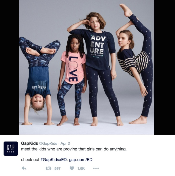Theres a huge problem with this new gap ad hellogiggles twitter publicscrutiny Gallery