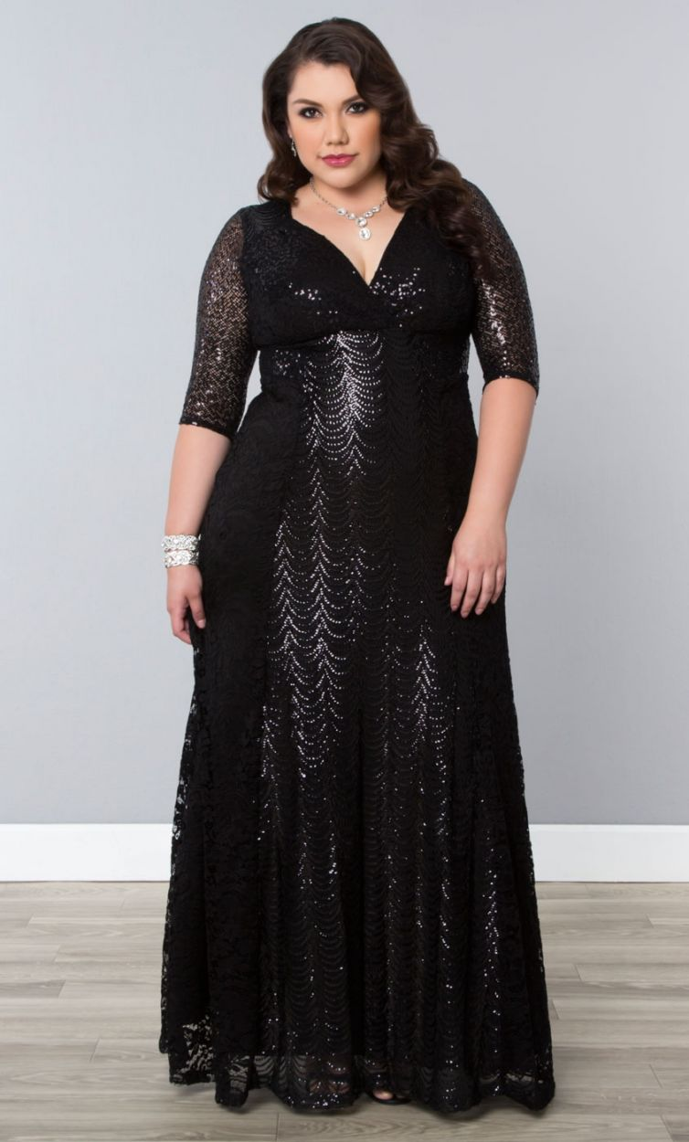 13 black wedding dresses that will bring out your inner for Plus size black dresses for weddings
