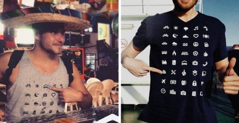 This awesome t-shirt lets you communicate with almost anyone in the world