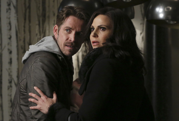 ONCE UPON A TIME -  Last Rites  - Emma, David, Regina, Robin and Henry are finally back home in Storybrooke and reunited with Snow, but, unfortunately, they still have to contend with Hades, who continues to deceive Zelena as he lays out his plan to use the all-powerful Olympian Crystal to take over the town. The heroes desperately search for a way to defeat Hades while Hook does the same in the Underworld, looking for those missing storybook pages. Regina and Robin take a more direct approach, which culminates in an epic showdown that will leave our heroes forever changed, on  Once Upon a Time,  SUNDAY, MAY 8 (8:00-9:00 p.m. EST), on the ABC Television Network. (ABC/Jack Rowand)                                   SEAN MAGUIRE, LANA PARRILLA