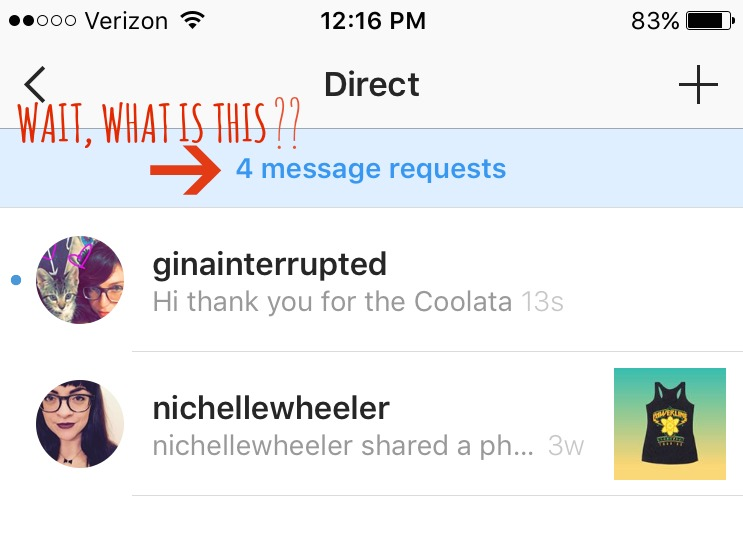 how to get on instagram messages