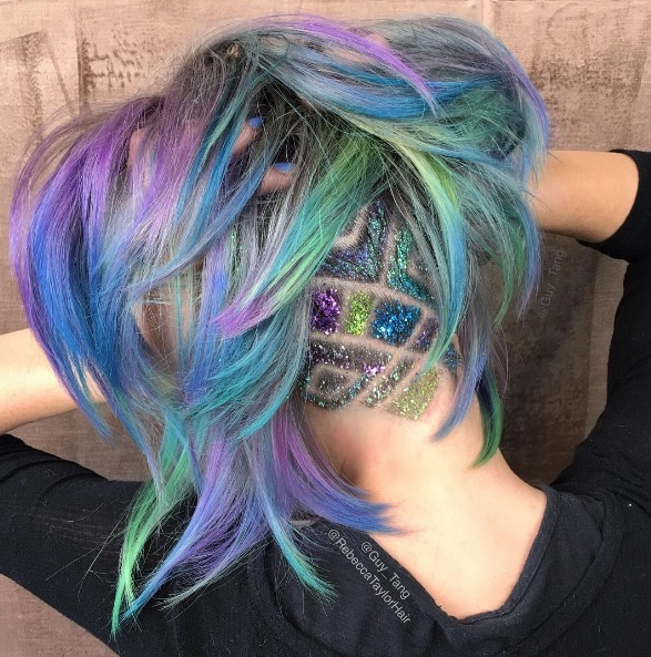 Is this rainbow undercut the coolest hairstyle ever?