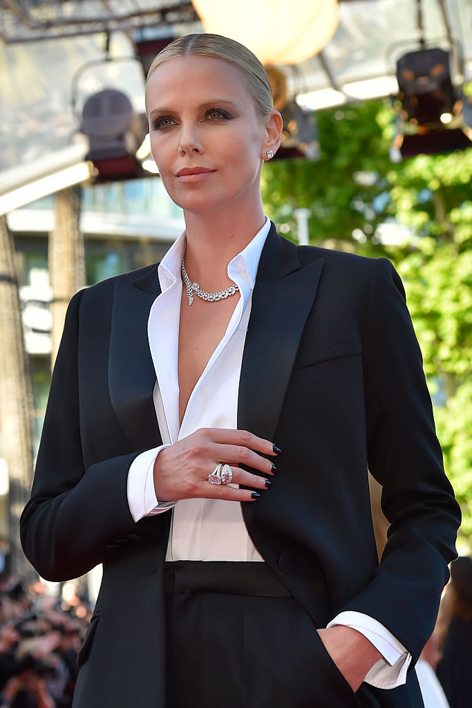 Charlize Theron Cannes Tuxedo