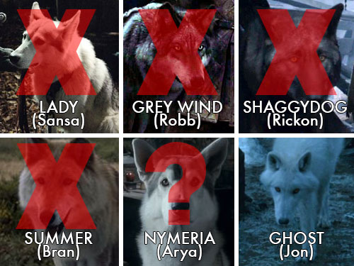 """We really need these Direwolf deaths to come to a stop on """"Game of"""