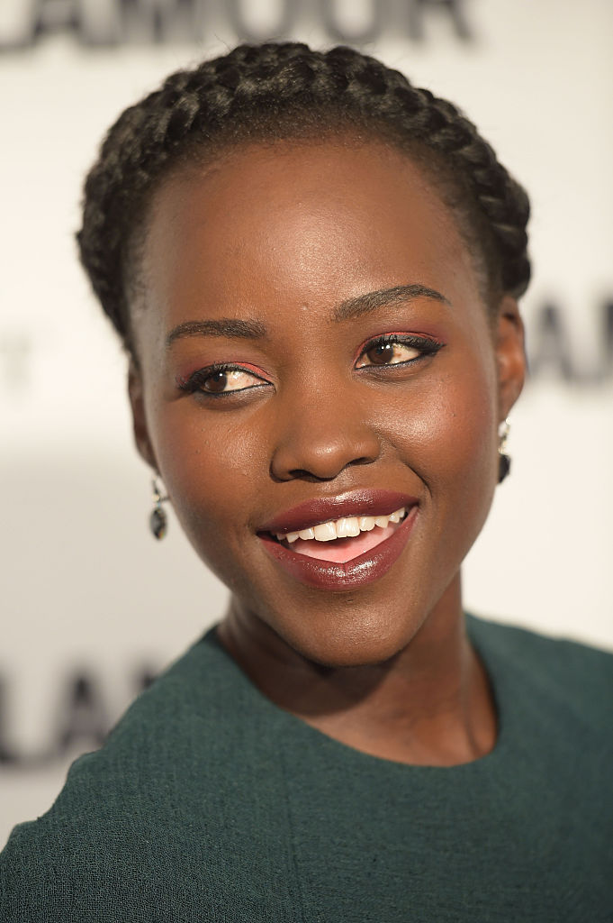 Lupita Nyong O S Parted Puffs Are Gorgeous Perfection