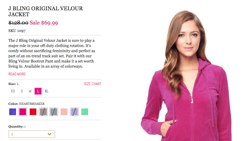 fc953aa831 The Juicy Couture velour tracksuit is coming back and we are SO ...