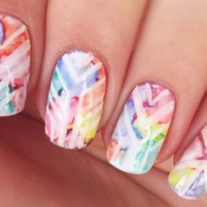 These watercolor manicures are incredibly dreamy
