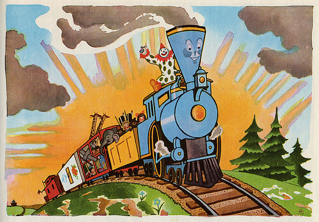 Little Blue Engine Who Could Flannel Board by ... |Little Blue Engine That Could