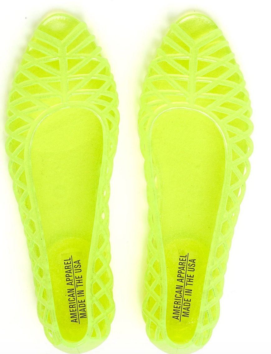 jelly sandals american apparel 1
