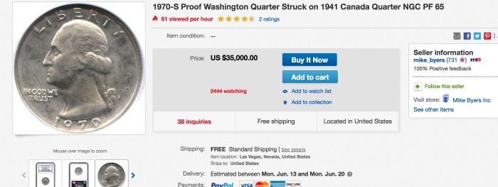 Check your quarters, you *might* have one worth $35,000