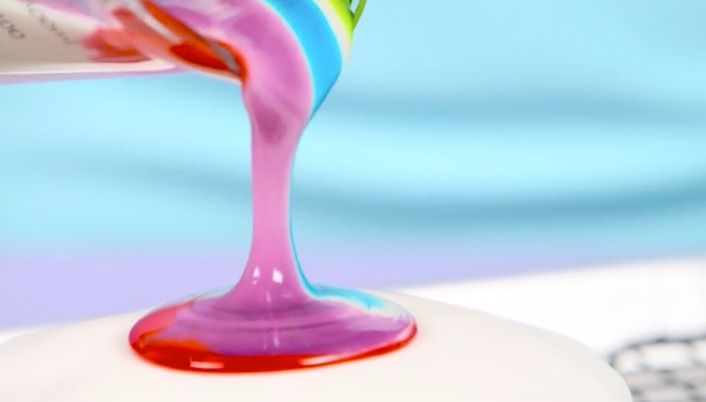 This tie-dye cake frosting is completely mesmerizing