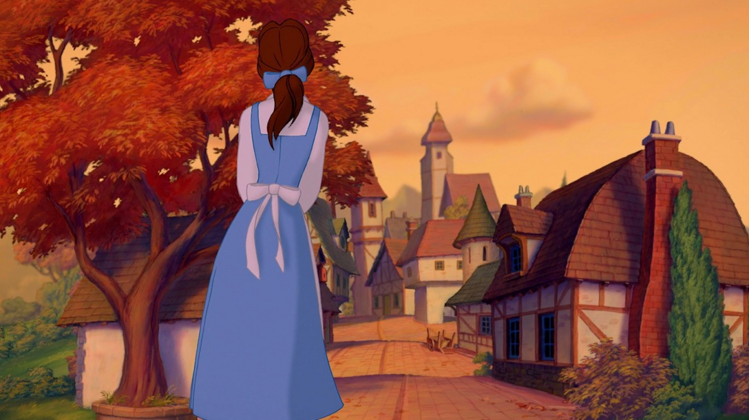 Kind Of A Random Detail But Maybe You Never Noticed When The Movie Starts Out Its Fall In Belles Village