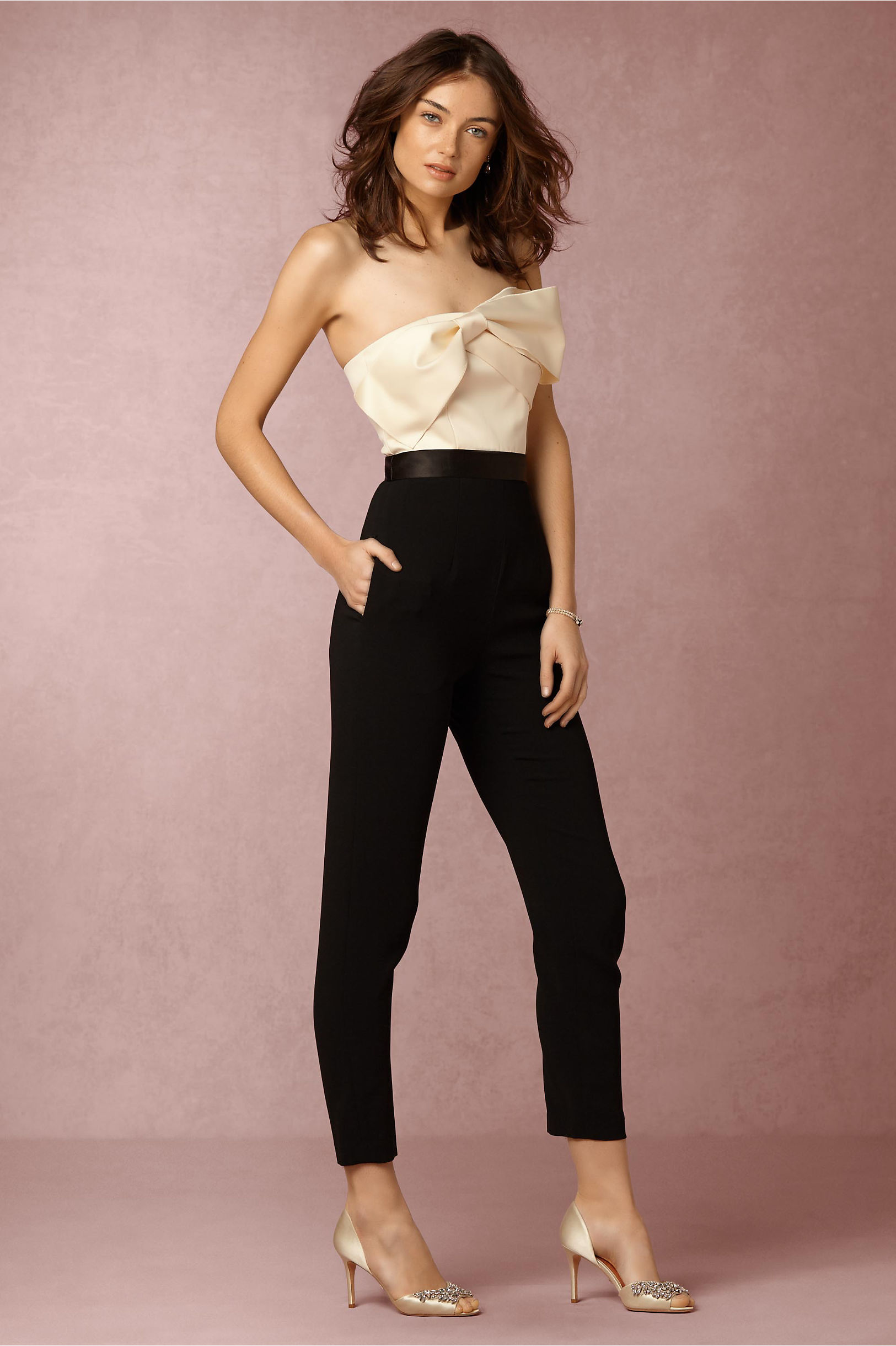 159983c67ad 11 chic AND affordable wedding jumpsuits — because yes you can wear ...