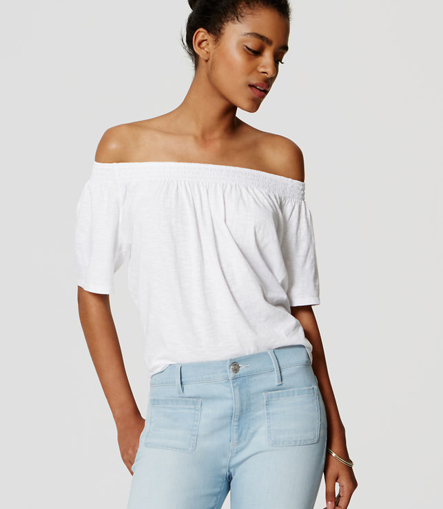 6c2bfdbdbb365e 11 off-the-shoulder tops you need to own to complete your summer ...