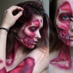 This woman's incredible horror makeup looks will have you longing for Halloween