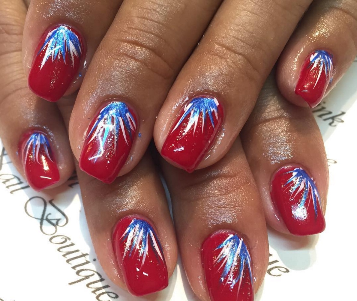 Nothing Says Its The Fourth Of July Like Fireworks On Your Nails